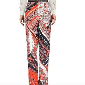 Just Cavalli Wide Leg Patterned Trousers Sz 44 NWT